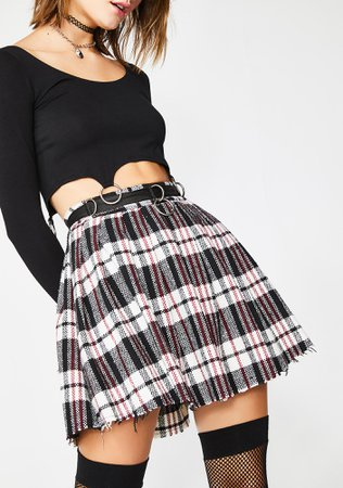 Current Mood Chill Dress Code Wool Skirt | Dolls Kill