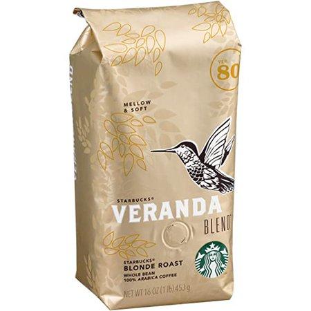 Amazon.com : Starbucks Veranda Blend Whole Bean Coffee, Veranda, 96 Oz Pack of 6 : Grocery & Gourmet Food