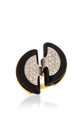 Eleuteri Antique Platinum Burmese Sapphire and Diamond Ring