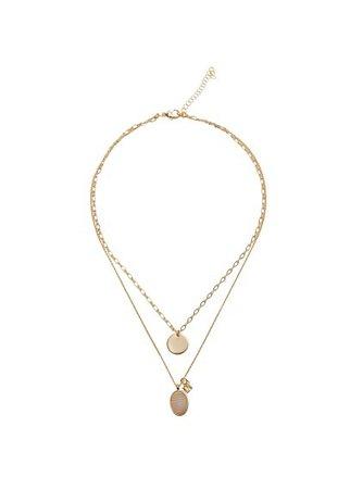Violeta BY MANGO Semiprecious stone necklace