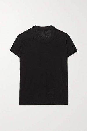 Small Level Cotton-jersey T-shirt - Black