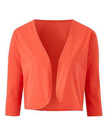 Coral Jersey Shrug | Simply Be