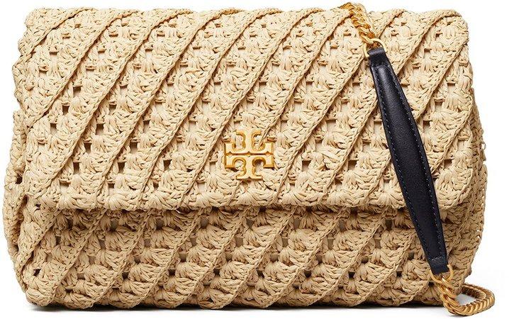 Kira Crochet Raffia Shoulder Bag