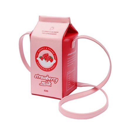 strawberry milk bag