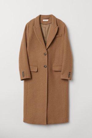 Wool-blend Coat - Camel - Ladies | H&M