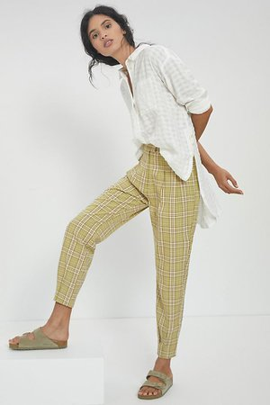 Andrew Tapered Plaid Pants | Anthropologie