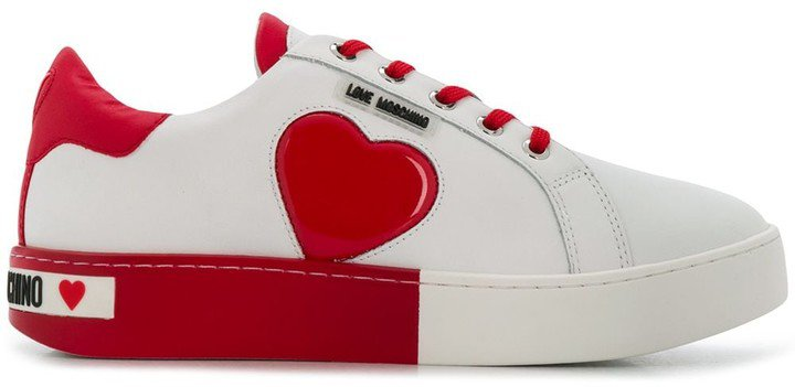 Heart Patch Low-Top Sneakers