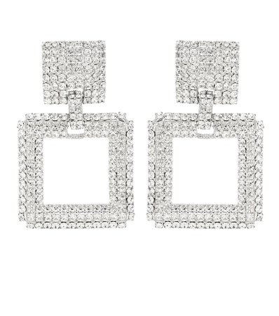 Alessandra Rich - Crystal-embellished clip-on earrings | Mytheresa