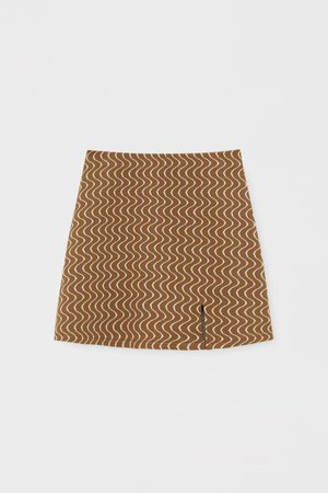 Psychedelic print mini skirt with slit - PULL&BEAR