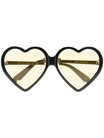 Gucci Eyewear Yellow Heart-shaped Sunglasses | Farfetch.com