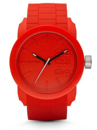 men's red watch