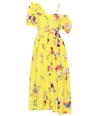 Domino silk-blend dress