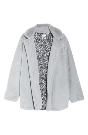 Splendid Faux Fur Sleep Jacket grey