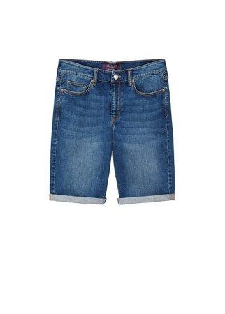Violeta BY MANGO Medium denim bermuda shorts