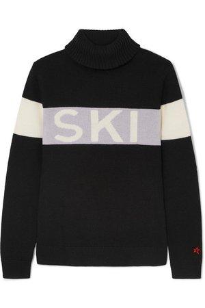 Perfect Moment | Intarsia merino wool turtleneck sweater | NET-A-PORTER.COM