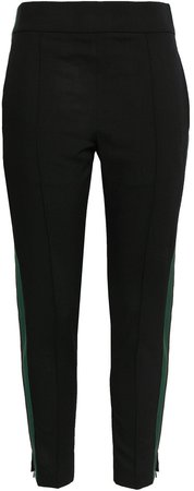 Striped Wool-blend Tapered Pants