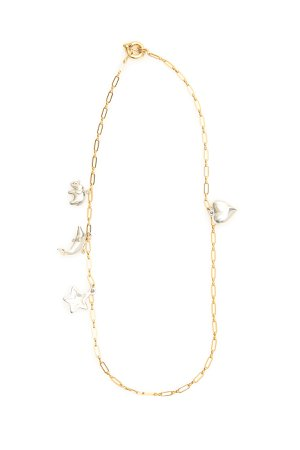 Timeless Pearly Chain Necklace With Charms
