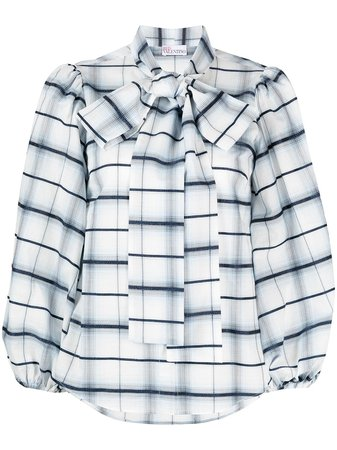 Valentino, pussy-bow and puff slevees blouse