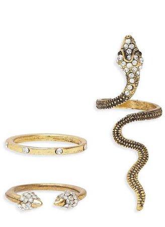 Snake Rings Set