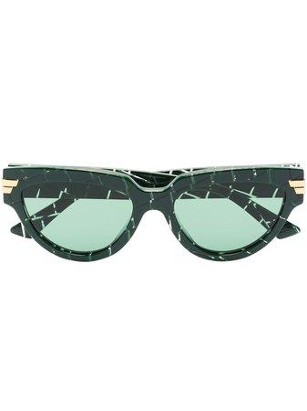 Bottega Veneta Eyewear Cat eye-solglasögon Med Krokodileffekt - Farfetch