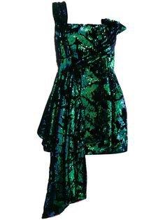 green glitter dress