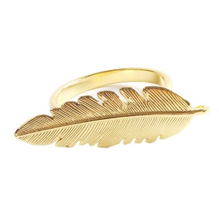 Gold Plated Metal Palm Tree Monstera Napkin Rings - Set of 4 (Gold Feather) - Walmart.com - Walmart.com