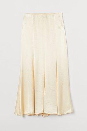 Long Skirt - Light yellow - Ladies   H&M US