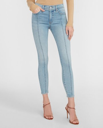 Mid Rise Supersoft Seamed Skinny Jeans
