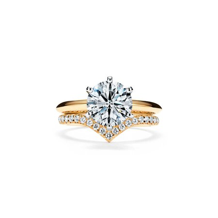 The Tiffany® Setting Engagement Ring in 18k Yellow Gold