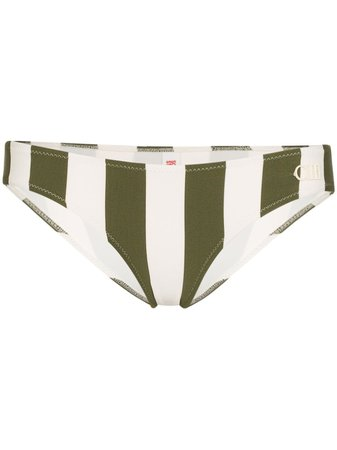 Solid & Striped Elle Striped Bikini Bottoms | Farfetch.com