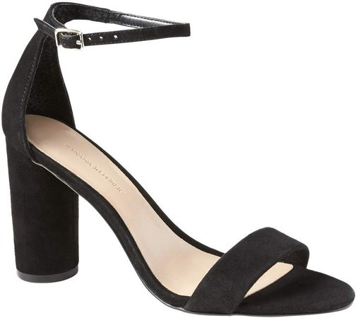 Bare High Block-Heel Sandal