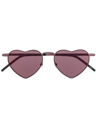 Saint Laurent Eyewear Heart Frame Sunglasses 571172Y9902 Black | Farfetch
