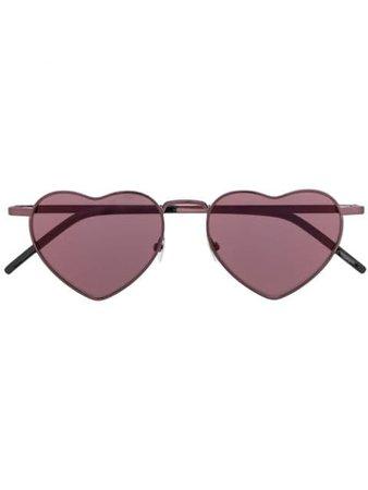 Saint Laurent Eyewear Heart Frame Sunglasses 571172Y9902 Black | Farfetch