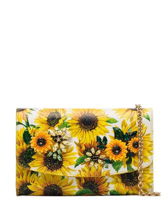Dolce & Gabbana Sunflower Print Shoulder Bag - Farfetch