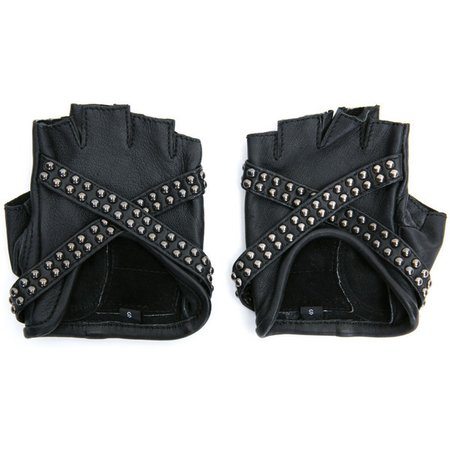 black fingerless leather gloves - Google Search