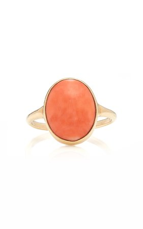 14K Gold Coral Ring by VELA | Moda Operandi