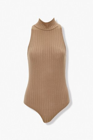 Ribbed Mock Neck Bodysuit | Forever 21