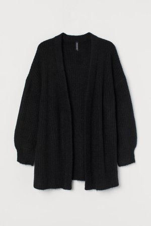 Oversized Cardigan - Black