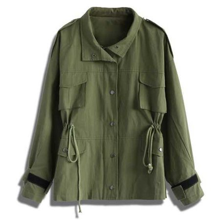 Chicwish Go Chic Army Green Military Coat