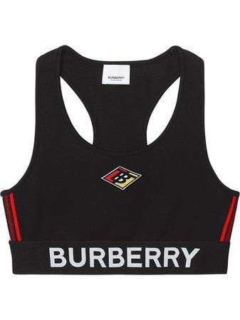Burberry Logo Stretch Jersey Bra 8024659 Black | Farfetch