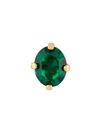 Wouters & Hendrix A Wild Original! Emerald Crystal Stud Earring - Farfetch