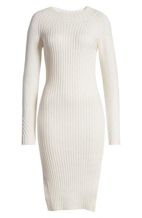 Lulus Snuggle Pretty Mock Neck Long Sleeve Midi Dress | Nordstrom
