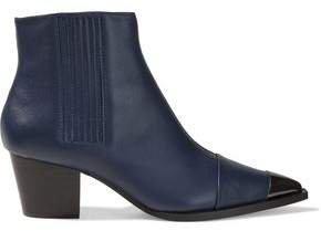Blythe Embellished Leather Ankle Boots