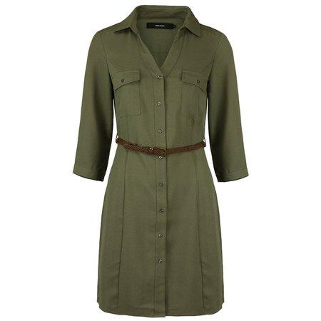 green Blouse Dress