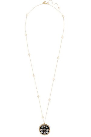 Gucci | Icon 18-karat gold and enamel necklace | NET-A-PORTER.COM