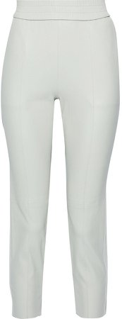 Cropped Leather Tapered Pants