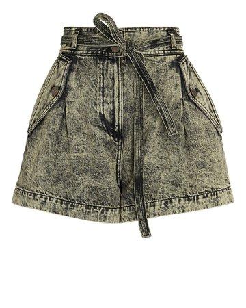 Ulla Johnson Alec Tie-Waist Denim Shorts | INTERMIX®