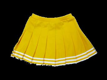 yellow cheer skirt