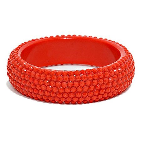 Amazon.com: Candy Color Spiked Lucite Bangle Bracelet Modern Design Fashion Jewelry (#92) (Red): Jewelry