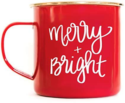 Amazon.com | Sweet Water Decor Merry and Bright Campfire Mug Large Red Tea Cup Coffee Lover Coffee Mug Christmas Gift For Her Hot Chocolate Holiday Gifts Accessories Stocking Stuffer Mugs Cozy Winter Decorations: Coffee Cups & Mugs